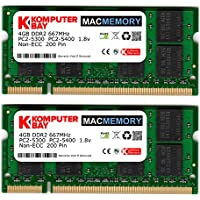 Komputerbay MACMEMORY 6GB Kit (4GB + 2GB Modules) PC2-5300 667MHz DDR2 SODIMM for Apple MacBook Pro mid-/late 2007 2.0GHz 2.2GHz