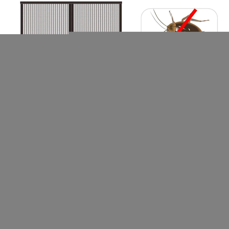 Moustiquaire de Porte Facile /à Installer sans Percer Black 70x190cm GOUDU Moustiquaire Porte Magn/éTique pour Porte d Entr/ée Int/érieur//Patio 27x74inch