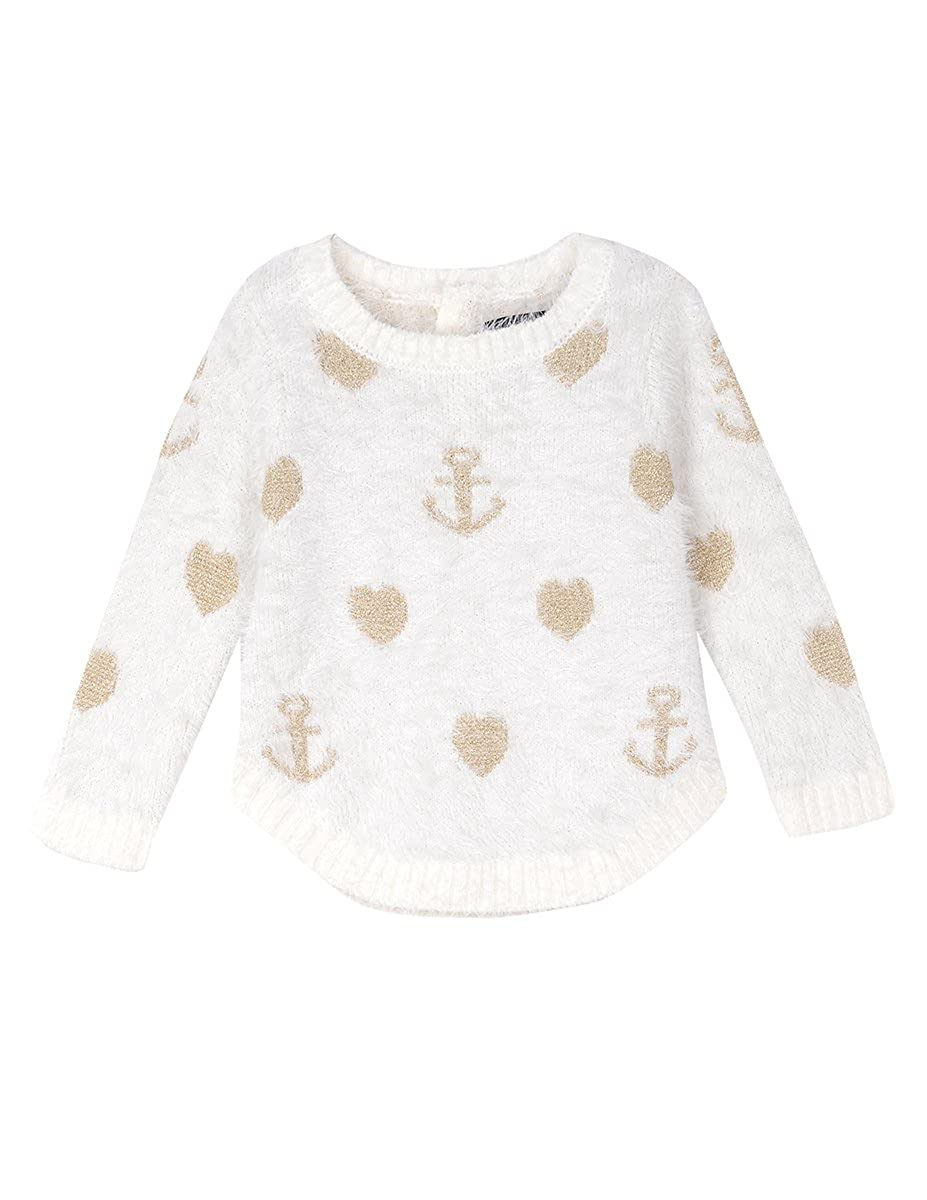 Nautica Baby Girls' Intarsia Sweater Furry Yarns NAC0080Q