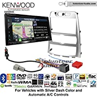 Volunteer Audio Kenwood Excelon DNX694S Double Din Radio Install Kit with GPS Navigation System Android Auto Apple CarPlay Fits 2009-2012 Hyundai Genesis (Silver) (Automatic A/C controls)
