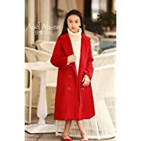 Anel Aberar Girls Trench Coat for Winter Double Breasted Long Sleeve Trench Jacket