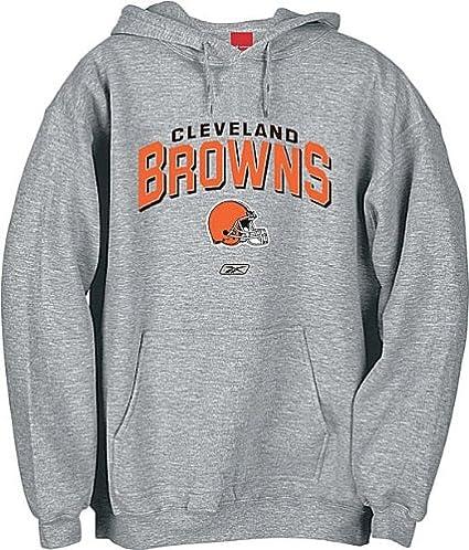 Amazon.com   Cleveland Browns Adult Grey NFL Hooded Sweatshirt By Reebok    Athletic Sweatshirts   Clothing 767584dcf