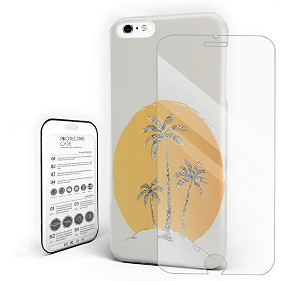 Amazon Com Big Sunset And Coconut Trees Phone Case For