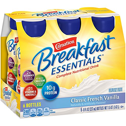 Carnation Breakfast Essentials Classic French Vanilla Complete Nutritional Drink, 8 fl oz, 6 count