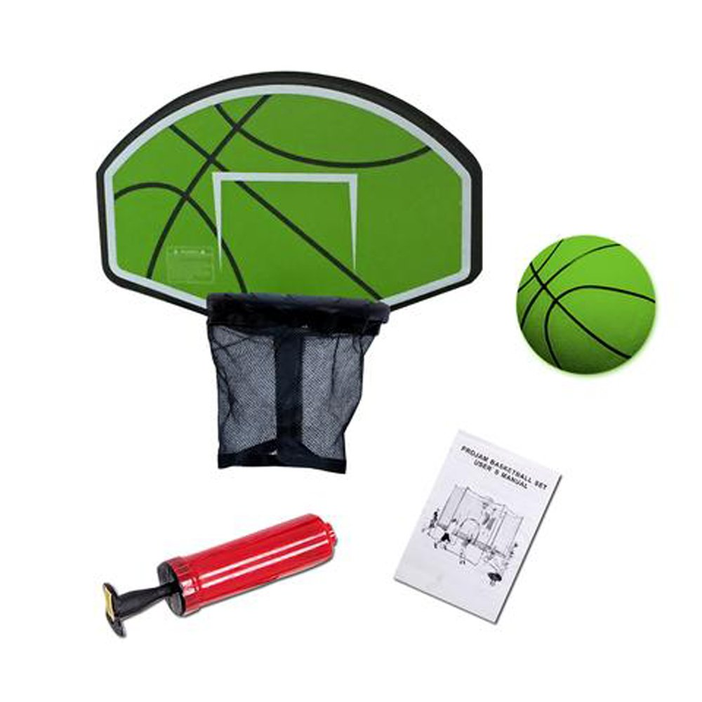 Exacme Trampoline Basketball Hoop Game Play Sport with U-Bolt Attachment, Green by Exacme