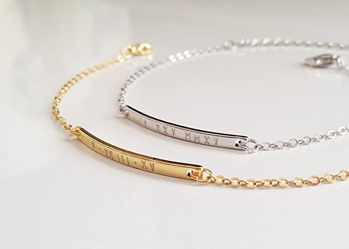 with a bangle bracelets bracelet inch personalized front shaped children for marquise baby engraved bangles htm silver