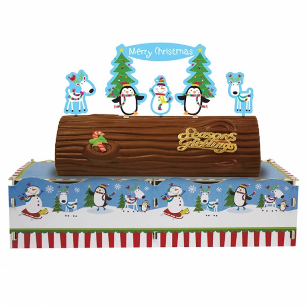 dcoration nol stand pour bche de nol bonshommes de neige sympa amazonfr cuisine maison - Decoration Pour Buche De Noel