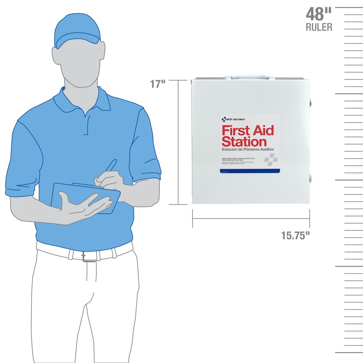 First Aid Only 100 Person 3 Shelf First Aid Steel Cabinet by Pac-Kit (Image #1)
