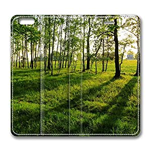 iPhone 6 Plus Case, Fashion Customized Protective PU Leather Flip Case Cover Tree Shadows for New Apple iPhone 6(5.5 inch) Plus