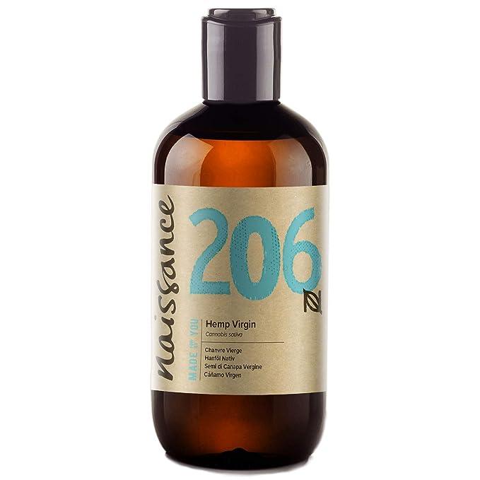Naissance Aceite Vegetal de Semillas de Cáñamo 250ml - 100% puro, virgen, prensado en frío, vegano y no OGM: Amazon.es: Salud y cuidado personal