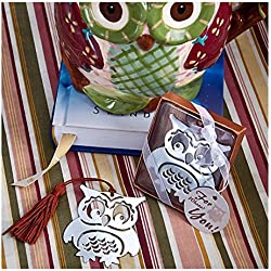 Owl Design Bookmark Wedding Baby Shower Favor & Accessory