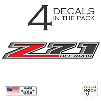 GOLD HOOK Z71 Off Road Decal | Replacement Sticker | Chevy Silverado | GMC Sierra | Truck 4x4: Clothing