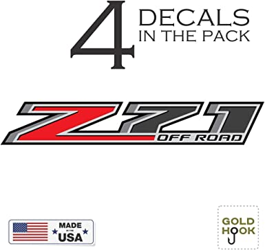 EZ Cut Pro 2X 2014-2018 Chevy Silverado Z71 Off Road 4x4 Decals F Stickers GMC Sierra USA