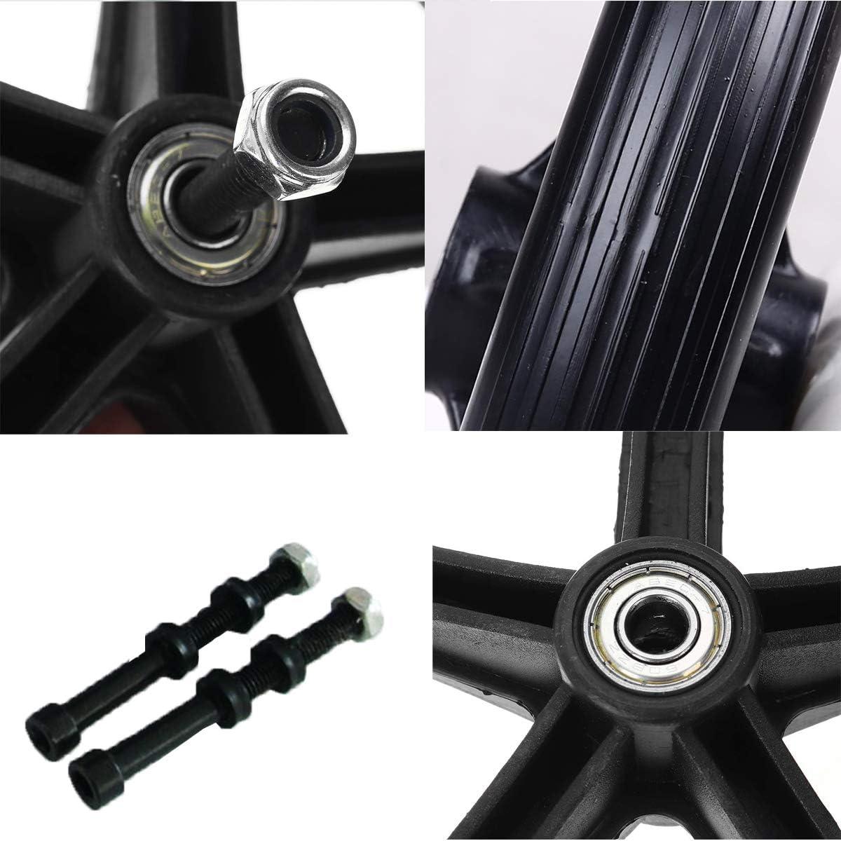 Inbusschl/üssel Reifen Rollstuhl Vorne Rollstuhlreifen Rollstuhlr/äder Vorne Kleines Rad 7in Walker Wheels Ersatz Schwarz Mit 0,8 cm Lager