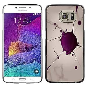 Caucho caso de Shell duro de la cubierta de accesorios de protección BY RAYDREAMMM - Samsung Galaxy S6 SM-G920 - Blood Cell