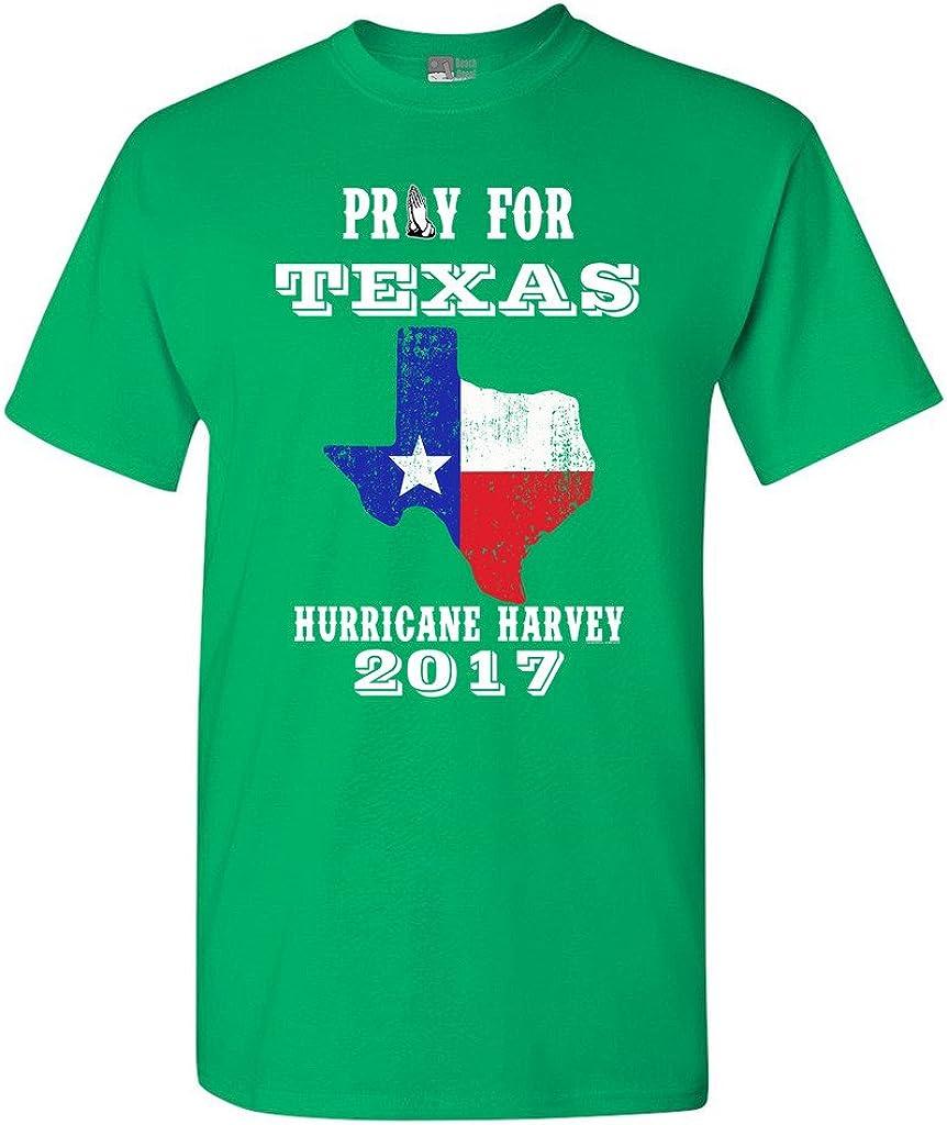 Pray for Texas Map Hurricane Harvey Survivor 2017 DT Adult T-Shirt Tee