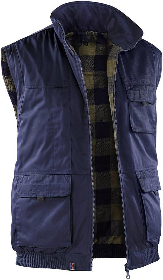 K/ÜBLER WEATHER Wetterweste blau Gr/ö/ße 3XL Unisex-Wetterweste aus Mischgewebe leichte Wetterweste von K/ÜBLER Workwear