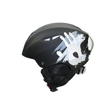 Cascos de esquí nieve Aidy deportes al aire libre casco para Snowboard Negro negro Talla: