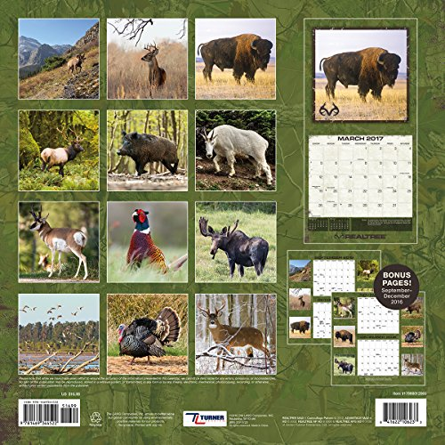 "Turner Licensing 2017 Realtree Big Game Wall Calendar, 12""X12"" (17998012065) Photo #3"
