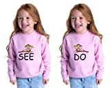 Monkey See Monkey Do Toddler Long Sleeve Sweatshirt Twin Set Oxford Gray 2T