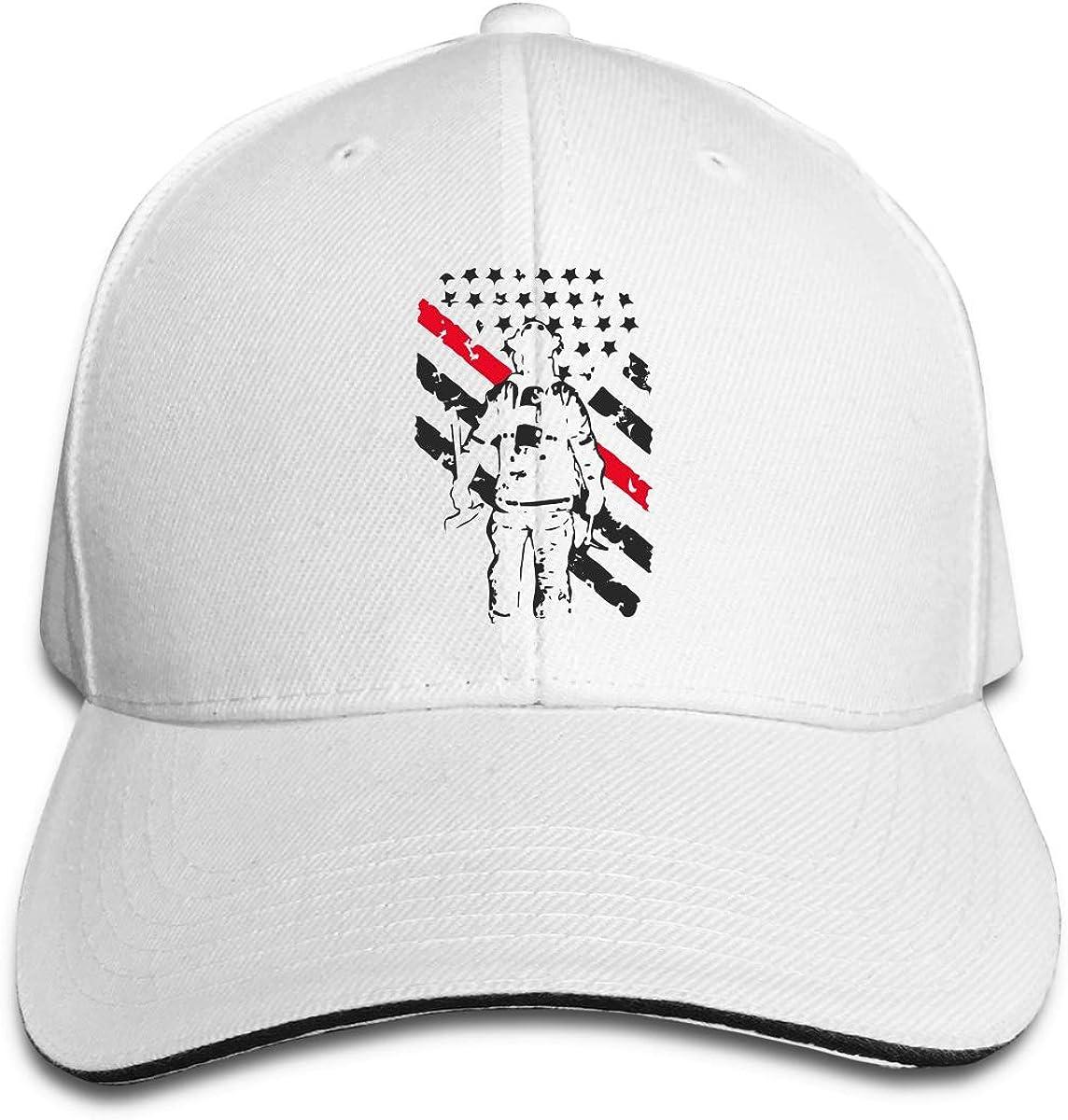 Firefighter Thin Red Line Outdoor Snapback Sandwich Cap Adjustable Baseball Hat Plain Cap