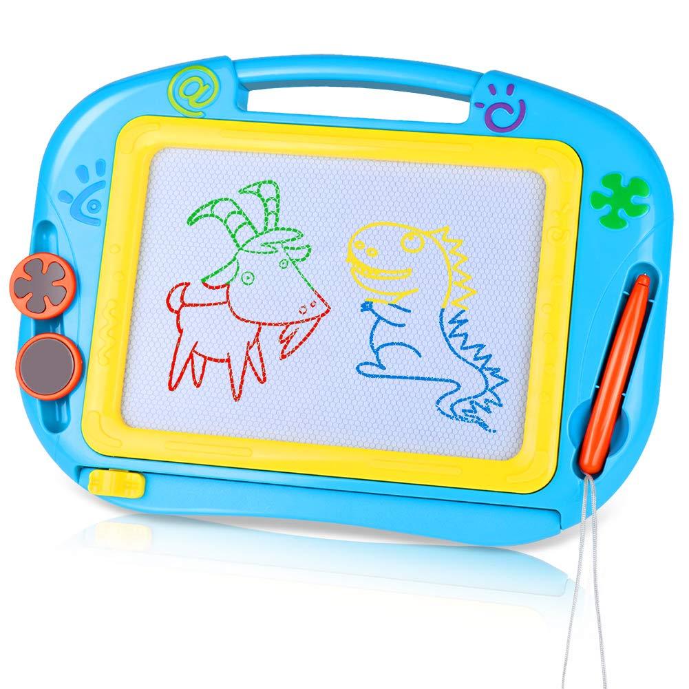TTMOW Pizarras Mágicas Colorido con Pluma, Almohadilla Borrable de Escritura y Dibujo, Juguetes Educativos para 3 niños 4 años 5 años 6 años (Azul)