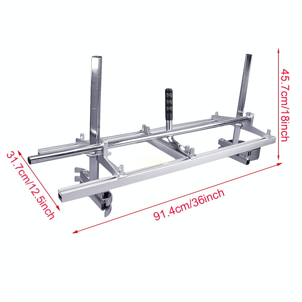 Portable Chainsaw Mill Attachment Planking Milling Bar Size 14'' to 36'' Wood Lumber Cutting Sawmill Aluminum Steel Chain Saw Mills Guide for Builders and Woodworkers by Seeutek (Image #1)
