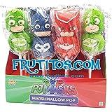 PJ MASKS - Piruleta de marshmallow - Pincho de espuma dulce - 16 Unid