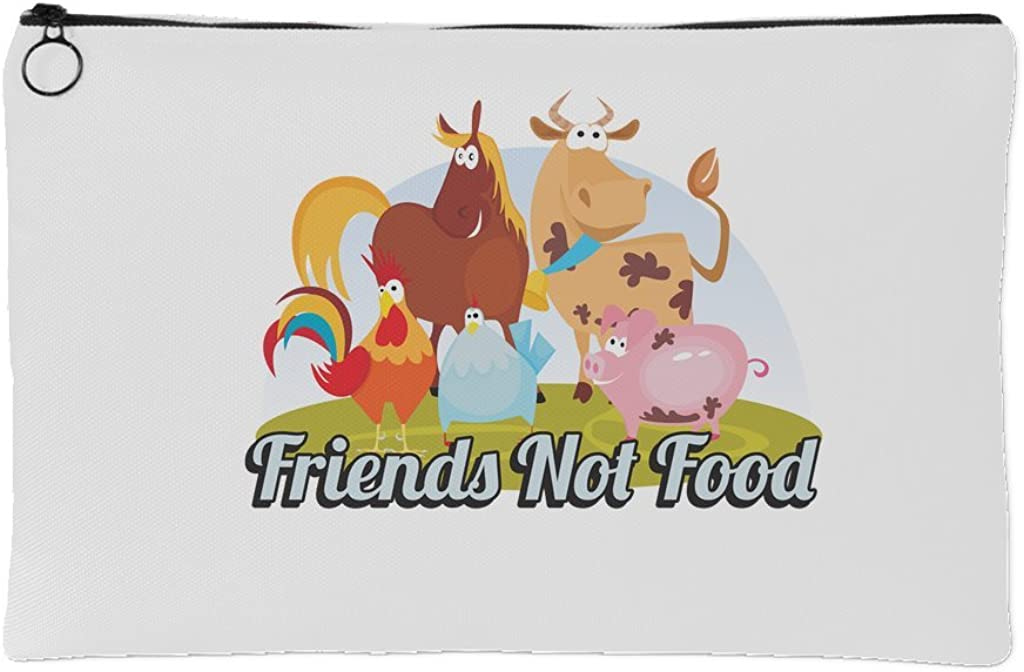 Cute Animals - Friends Not Food - Small or Large Accessory Pouch