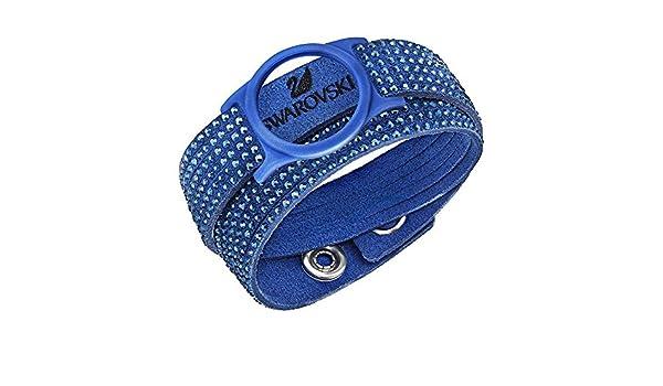 553313e76dc1e Amazon.com  Swarovski Blue Slake Activity Crystal Bracelet Carrier -  (device not included)  Jewelry