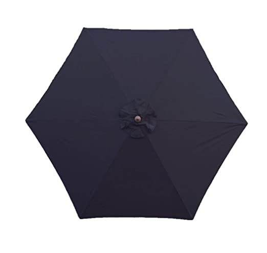 9ft Umbrella Replacement Canopy 6 Ribs in Navy Blue Olefin (Canopy Only)