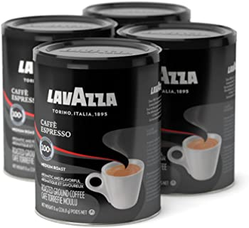 4-Pack Lavazza Caffe Espresso Medium Ground Coffee