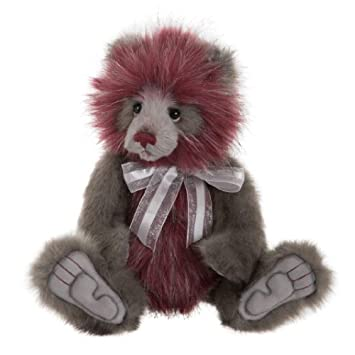 Charlie Bear 2015 Handmade Collectible Fully Jointed  Kirk 41cm Black White Grey
