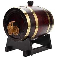 Wine Barrel Whiskey Barrel Wooden Barrel for Storage Or Aging Wine & Spirits Beer Household Home Brewing Wooden Barrel 5 L Retro