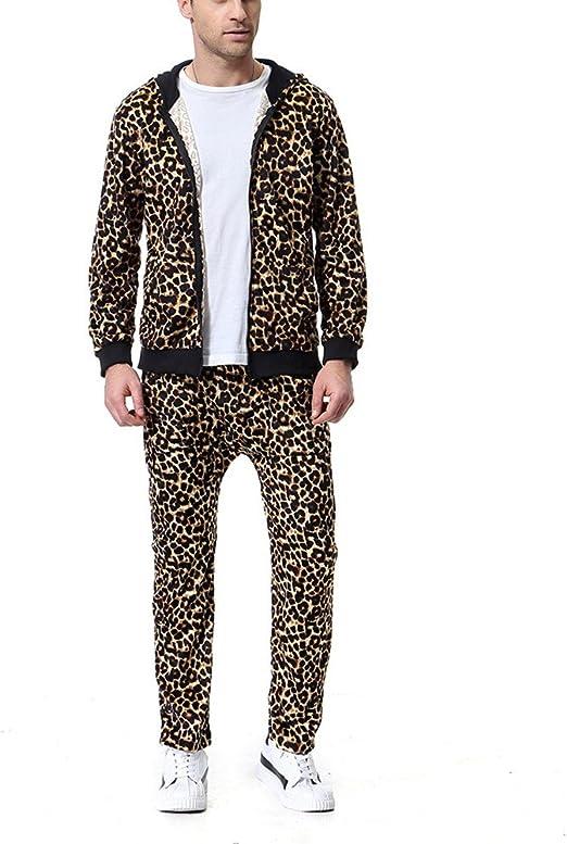 Amazon.com: aowofs hombre ocio traje disfraz leopardo ...