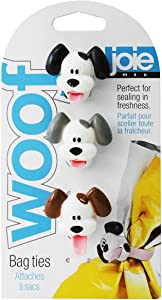 MSC International Silicone Joie Woof Bag Ties, White