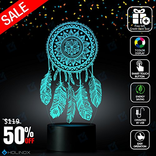 Dreamcatcher Lamp Decor, Best Christmas Gift, Decoration lamp, 7 Color Mode, Awesome gifts - Macys Shore Jim