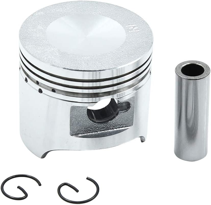 uxcell Silver Tone Engine Part 49.5mm Motorcycle Piston Kit for DY-100 STD
