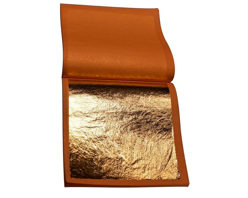 Genuine Gold Leaf 23.5K- by Gilder's Planet - (3.375''x3.375'') Loose Leaf Box - Qty 500lvs