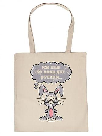 Lustige Stofftasche Beutel Zu Ostern Ich Hab So Bock Auf Ostern