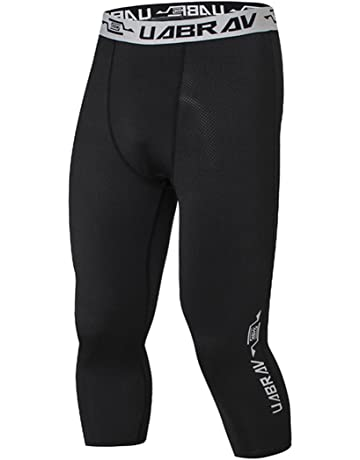 cb52b5868c0442 PHIBEE Men's Training Capri Compression Cool-Dry Tights 3/4 Running Leggings