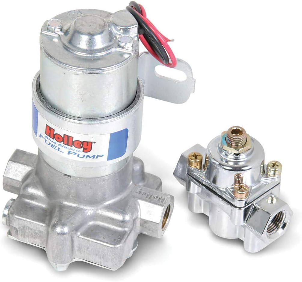 """Holley 12-815-1 /""""Black/"""" Electric Fuel Pump Street//Strip Carbureted 140 GPH"""