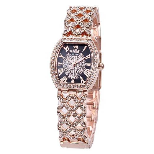 cacaxi relojes mujer marca de lujo quartz-watch moda mujeres Hollow pulsera de oro pulsera