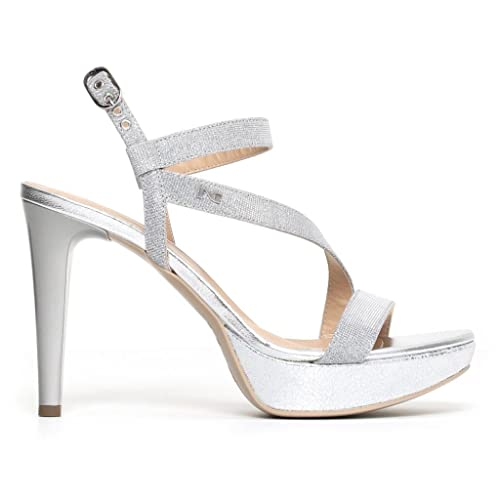 Szmlvqugp Nero Giardini Argentoghiacciop806070de Eleganti Sandali Donna D29WEIH