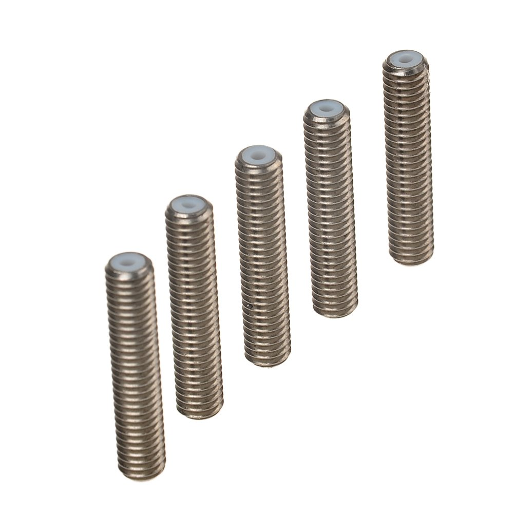 SODIAL(R) 5PCS Barrel M6 X 30 Teflon Nozzle Throat for MK8 Tube Makerbot 3D Printer Extruder Hot End 048043