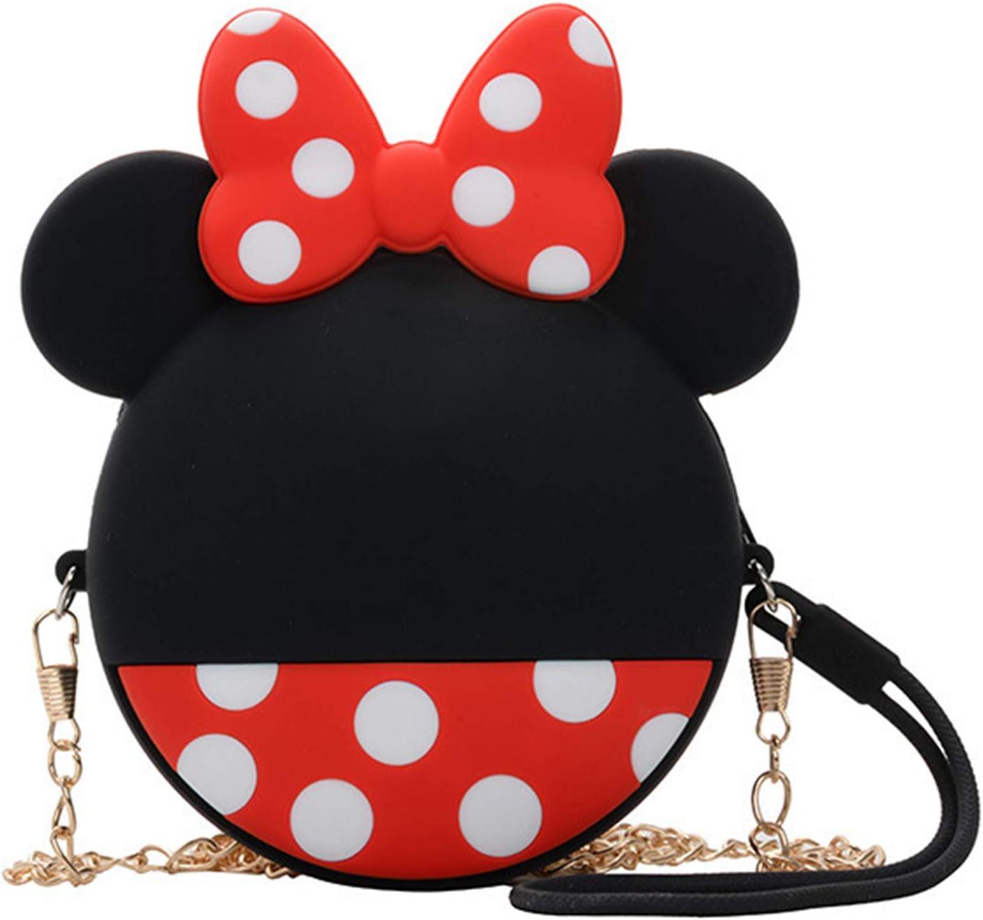 Portamonete per Bambina Minnie Mouse Mini Borsa Portafoglio per Regalo Festa Compleanno