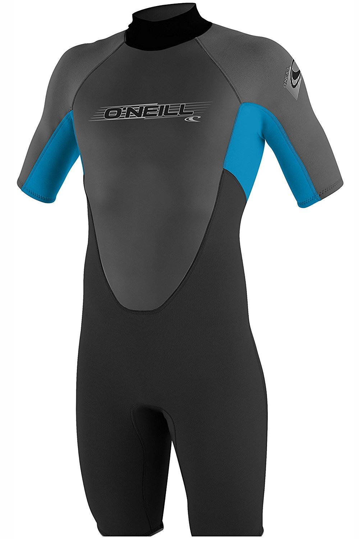 O'NEILL Wetsuits Men's 2mm Reactor Spring Suit, Black Smoke Tahiti, Medium by O'NEILL