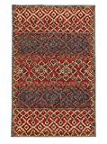 8' x 10' Rectangular Oriental Weavers Area Rug by Tommy Bahama JAM-53301 Red/Blue Color Handmade in India ''Tommy Bahama Jamison Collection'' Geometric Pattern