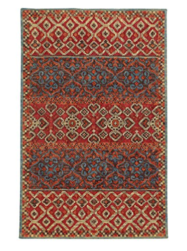 8' x 10' Rectangular Oriental Weavers Area Rug by Tommy Bahama JAM-53301 Red/Blue Color Handmade in India