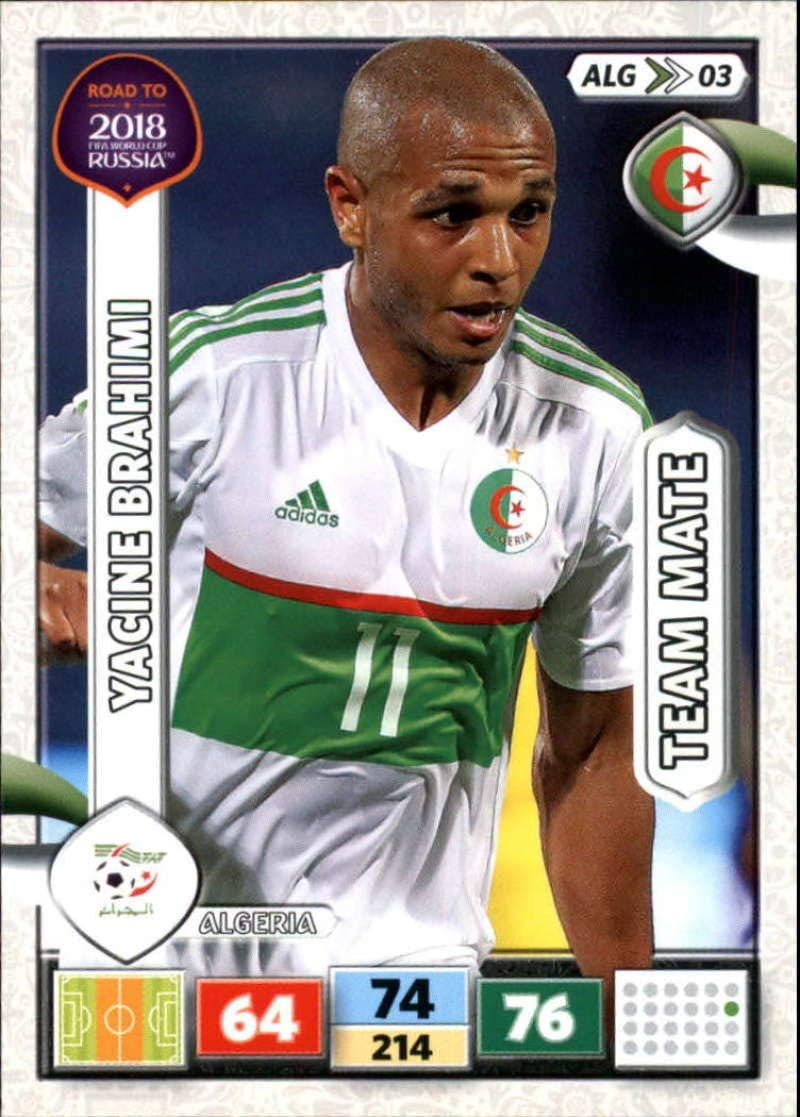 Alg08-rachid ghezzal-Team mates-Panini Adrenalyn Road to World Cup 2018